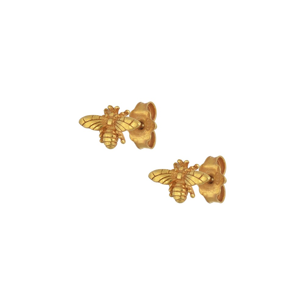 Ασημένια Σκουλαρίκια Tiny Bees