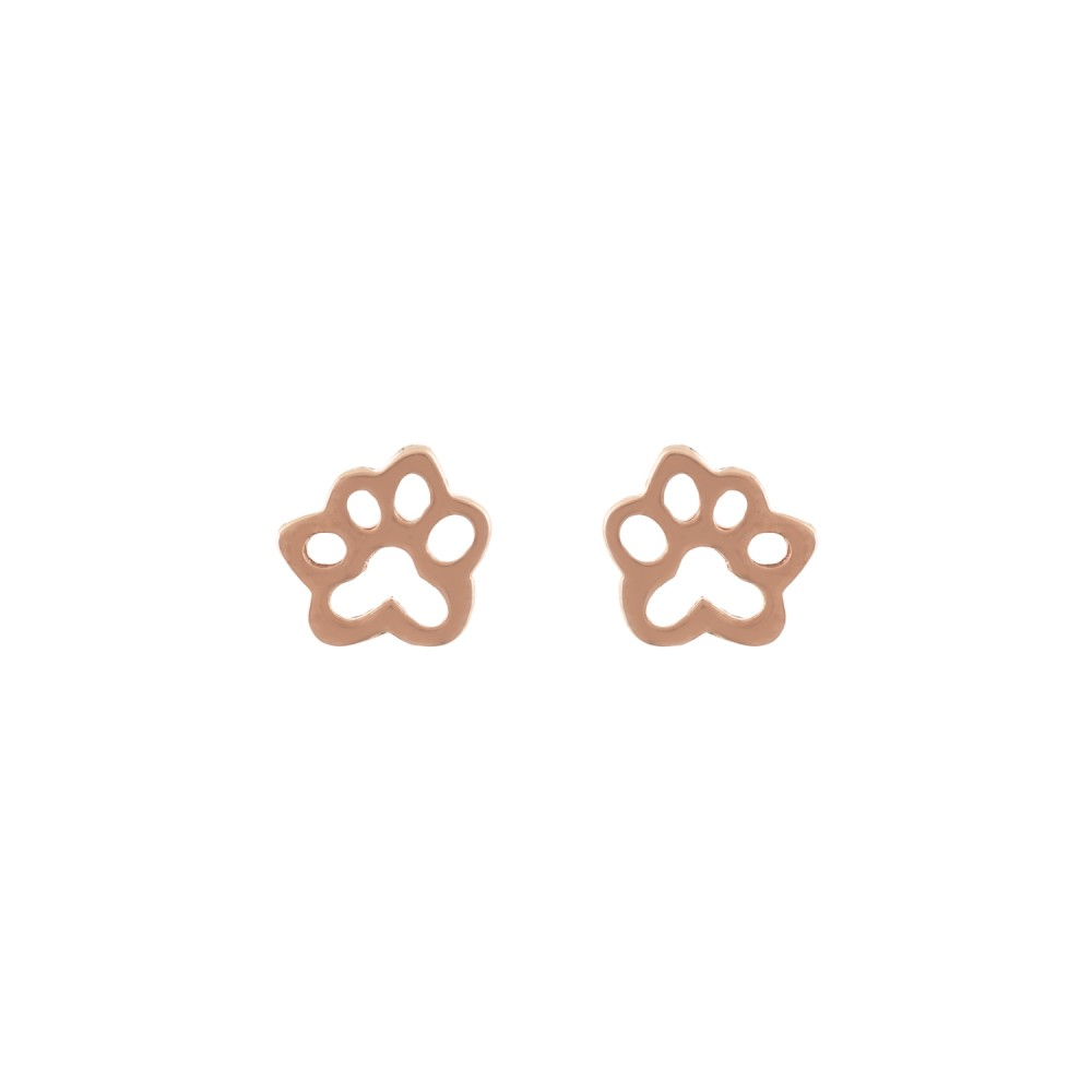 Ασημένια Σκουλαρίκια Tiny Paws
